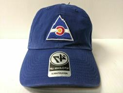 Colorado Rockies 47 Brand Cap Clean Up Adjustable Strapback