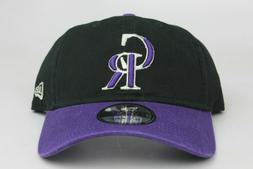 Colorado Rockies Black Purple New Era 9Twenty Adjustable Str