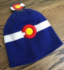 Colorado State Flag Embroidered Ski Cap Hat Beanie Acrylic B