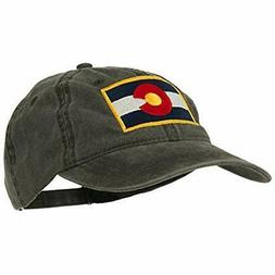 E4hats Colorado State Flag Embroidered Washed Buckle Cap - B