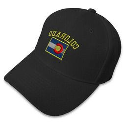 Colorado State Flag With Letters Embroidery Embroidered Adju