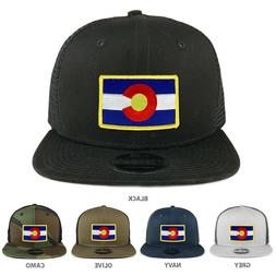 Colorado Western State Flag Patch Snapback Trucker Cap - FRE