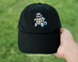Cool Squirtle Squirtle Squad Pokemon Embroidered Black Baseb