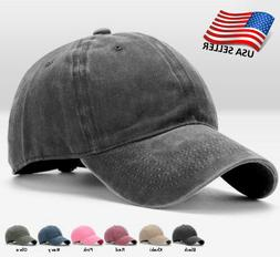 cotton baseball cap adjustable hat washed style