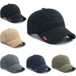 Cotton Baseball Cap Washed Style Hat Plain Adjustable Solid