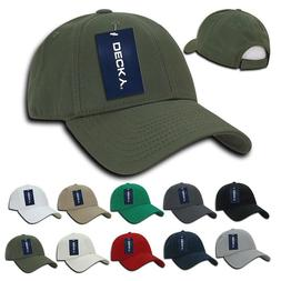 DECKY Cotton Low Crown 6 Panel Structured Dad Caps Hats Hook