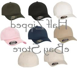 Flexfit Cotton Twill Dad's Cap 6745 Fitted Baseball Hat S/M