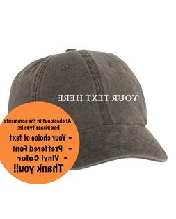 Custom Personalized Text on Unstructured Dad Hat Brand New-B