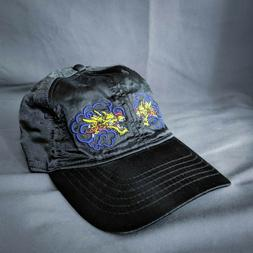 Empyre Dad Hat Cap Black Womens Satin Embroidered Dragons St