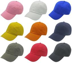 Dad Hat Cap Blank Adjustable Many Colors 100% Cotton Wholesa