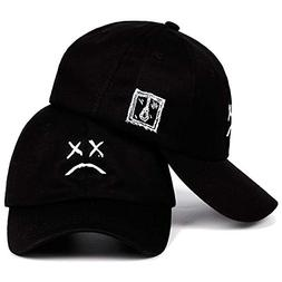 YILINRUI Dad Hat Embroidery 100% Cotton Baseball Cap Sad fac