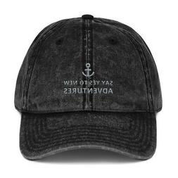 Dad Hats Say Yes To New Adventures Embroidered Vintage Cotto