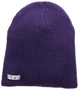 neff Men's Daily Reversible Beanie, Purple/Black White Heath