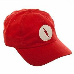DC Comics The Flash Suede Adjustable Dad Hat w/Leather Patch