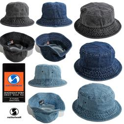 8b0f2e1b9f3 Newhattan Denim Jeans Bucket Hat 100% Cotton Crushable Summe