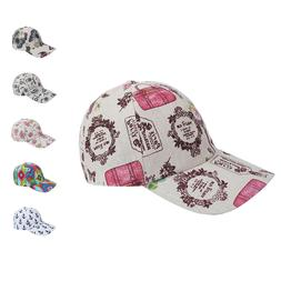 Designer Printed Baseball Summer Caps Hats for Women with Po