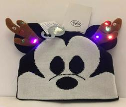 Disney Mickey Mouse Light-Up Knit Christmas Holiday Ear Hat