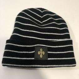 OVO Drake Beanie One Size Black/white Hat Striped October's