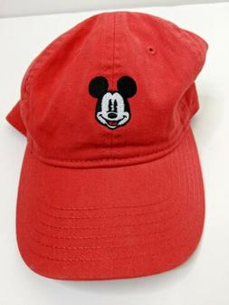 Disney Embroidered Mickey Mouse Red Dad Hat new without tags