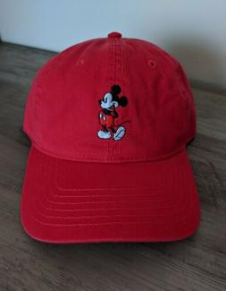 Disney Embroidered Mickey Mouse Red Dad Hat *NWT*
