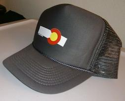 Estes Park Hat - State of Colorado Flag SnapBack Trucker Mes