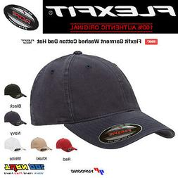 FLEXFIT Low Profile Fitted Washed Cotton Dad Hat Blank Garme
