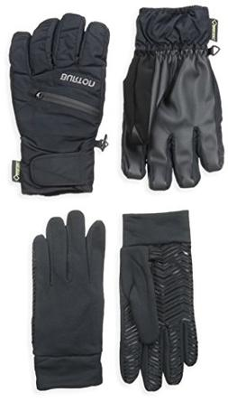 BURTON Men's Gore-Tex Under Gloves, True Black, Small