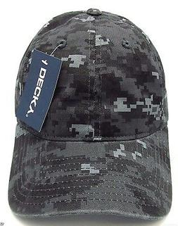 Gray Digital Camouflage Cap DECKY Camo Dad Hat Curved Visor