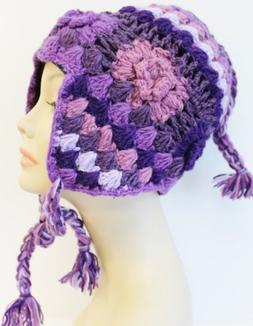 H695 Gorgeous Knitted Woolen Hat Cap Beautiful Style Hand Ma