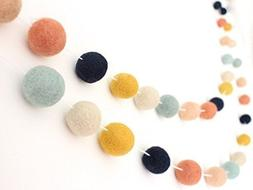 """Arizona"" Handmade Wool Felt Ball Garland by Sheep Farm Felt"