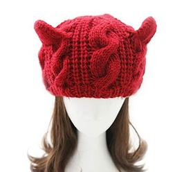 JOVANA Women's Hat Cat Ear Crochet Braided Knit Caps