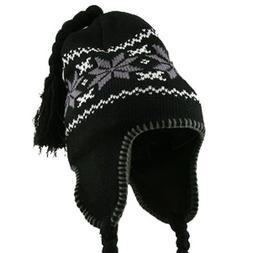 Adult Heavy Weight Knit Helmet - Black