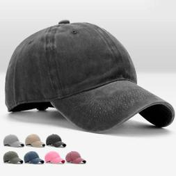 Hot Fashionable Washed Baseball Cap Fitted Cap Snapback Hat