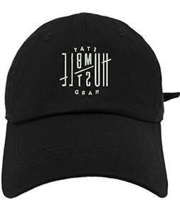 TheMonsta Humble Stay Hard Logo Style Dad Hat Washed Cotton
