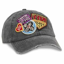American Needle Iconic Patch Distressed Dad Hat KISS Band, B