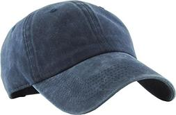 KB-PG-Low 2-W.Navy Classic Washed Pigment Cotton Dad Hat Adj