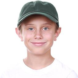 KBC-13LOW HGN  Kids Boys Girls Hats Washed Low Profile Cotto
