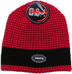 """KBW-28 RED-BLK """"The Thermal-Fleece Lined"""" Beanie for Cold We"""