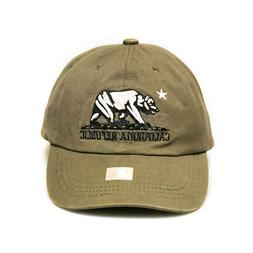 Khaki Tan Embroidery 'CALIFORNIA REPUBLIC' BEAR Dad Hat Base