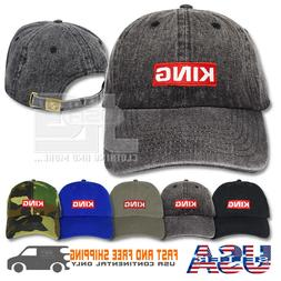 King Box Embroidery Dad Hat Baseball Cap Polo Style  embroid
