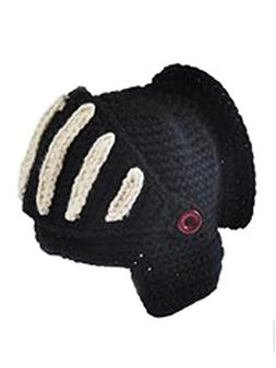 Unisex Fashion Knight Knitted Masks Helmet Cap Black