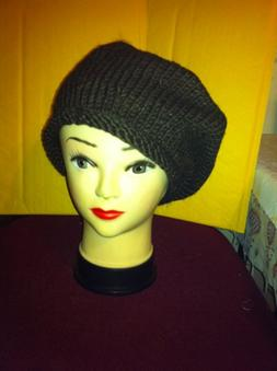 Knitted R-red Brown cap Hat