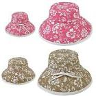 1 DOZEN SUMMER PRINTED FLORAL SUN BUCKET HAT HATS COTTON RIB