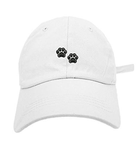 2 dog paws style dad hat washed