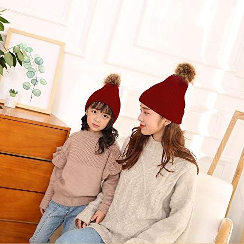 2 Warmer,Mother & Baby Family Knit Slouchy