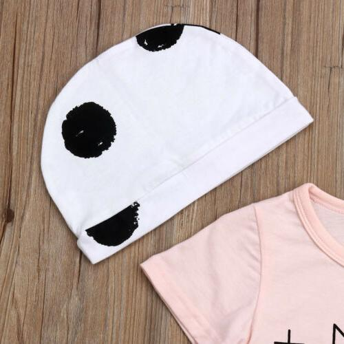 US Boy Tops shirt+Pants+Hat Summer Outfits Clothes