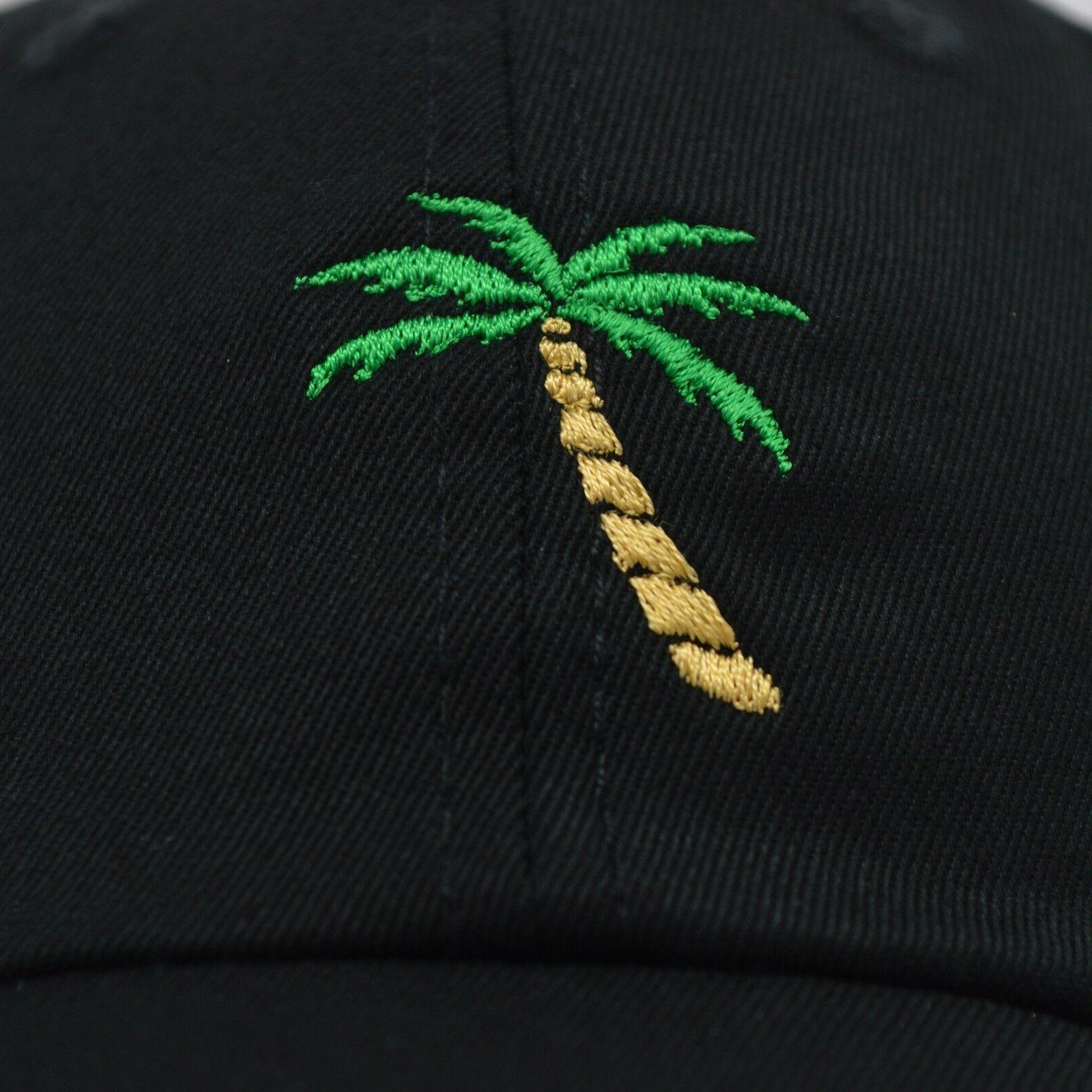 DALIX Palm Tree Cap Trucker Caps Mens in Black
