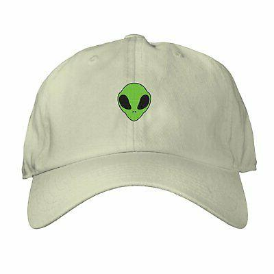 Alien Head Cap Adjustable Men Believe Galaxy