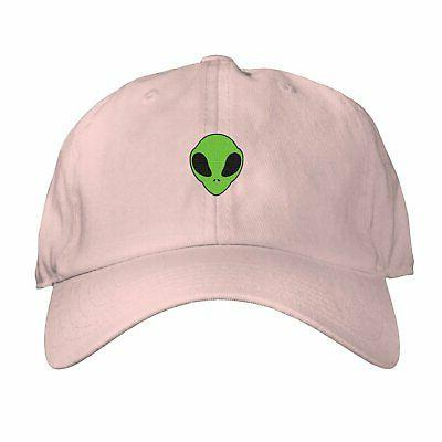 Alien Head Dad Hat Cap Women Believe Face Space