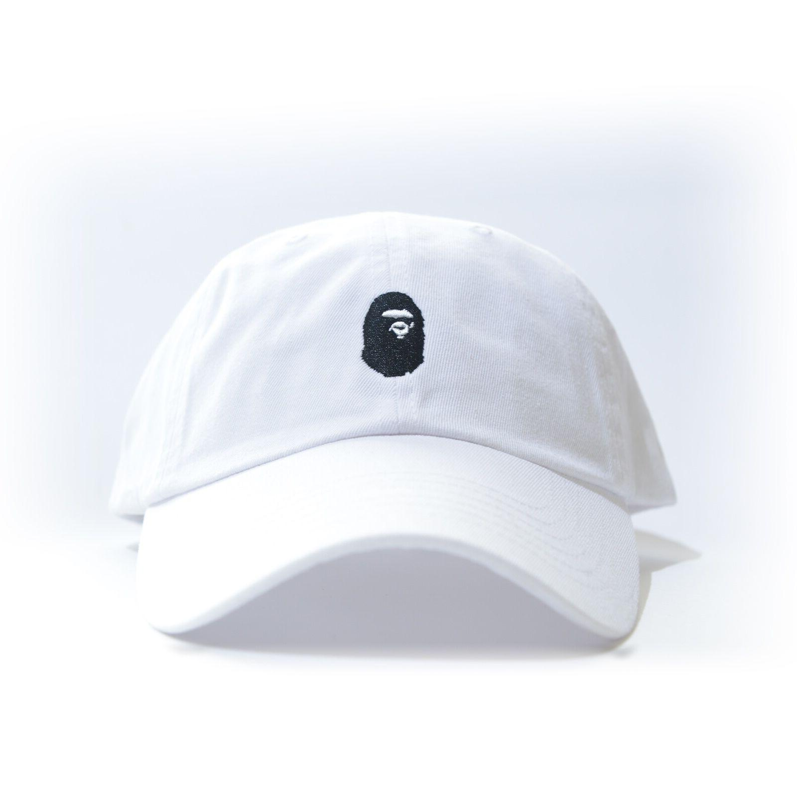 bape embroidered dad hat bathing ape head
